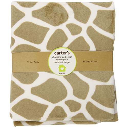 Carters Wildlife Velour Changing Pad Cover Beige