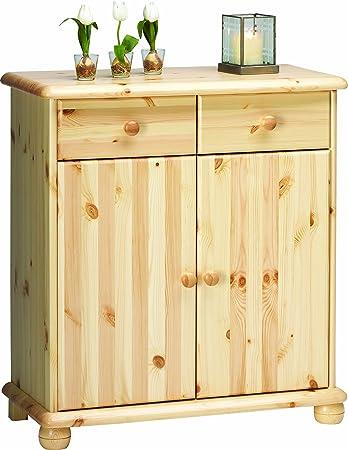 Steens 20222719 Sideboard Max 93 x 83 x 40 cm Kiefer massiv, natur lackiert