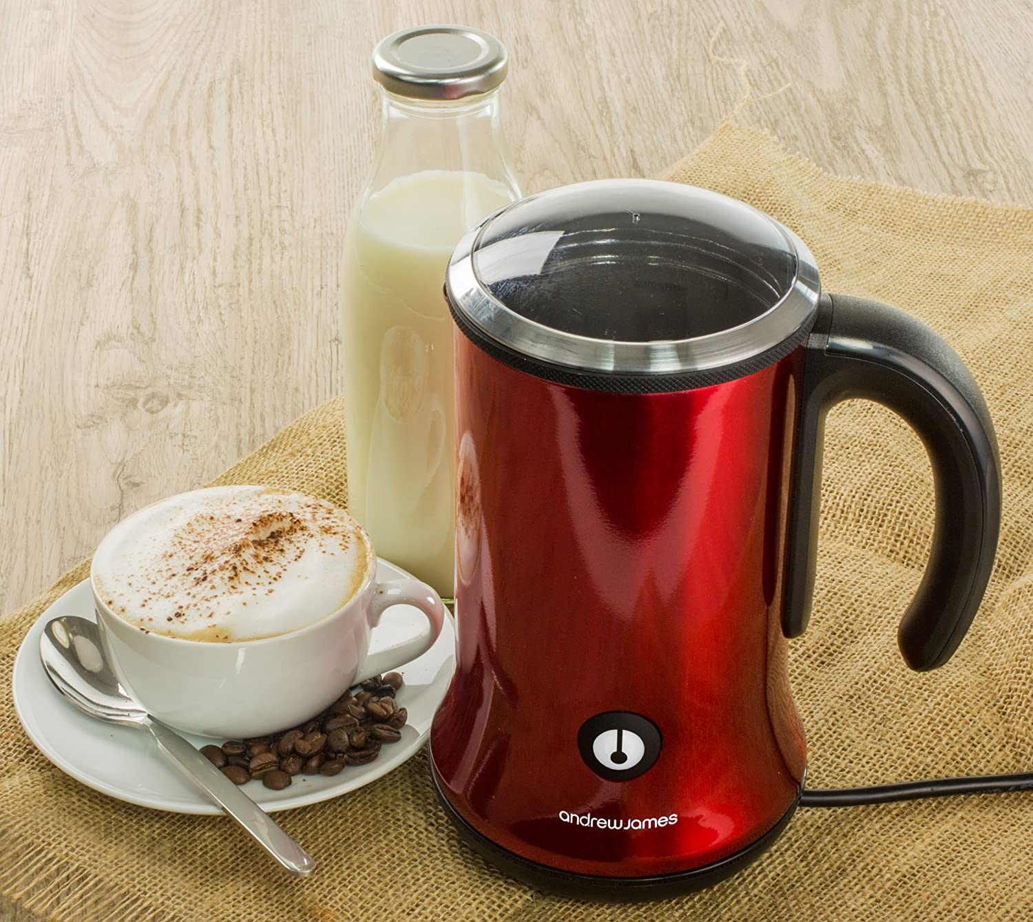 This Andrew James machine is one of the best milk frothers under £50.
