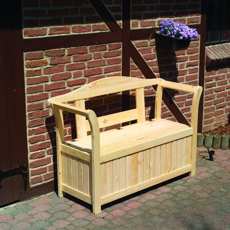 PROMEX Gartenbank Friesenbank mit Kissenbox online kaufen