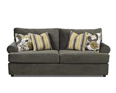Klaussner Briggs Sofa, Charcoal/Grey/Mica