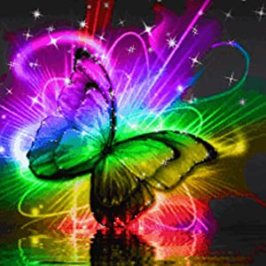 Rainbow Butterfly Wallpaper with Water