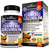 Turmeric Curcumin Sleep Aid with Melatonin - Natural Sleeping Pills with Valerian Root & L Theanine for Insomnia - Promotes Relaxation & Restful Sleep - Formulated for Joint Relief with Bioperine (Color: Turmeric Curcumin Pm)