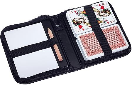 Ravensburger - 27073 - Jeu de cartes Rami, Canasta, Bridge avec stylo et carnet