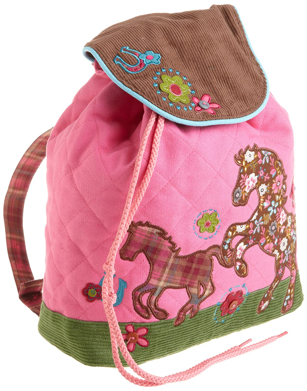 Stephen Joseph Girls Horse Signature Collection Quilted Backpack