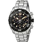 Bulova Men's 98B244 Sea King Analog Display Japanese Quartz Silver Watch (Color: White)