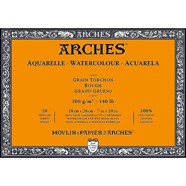 Arches Watercolor Paper Block, Rough, 7 x 10, 140 pound (Tamaño: 7x10)