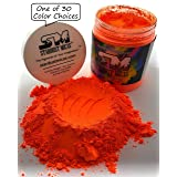 Stardust Micas Neon Pigment Powder for Soap Making, Slime Coloring, Epoxy Resin, Bright True Fluorescent Colors Cold Process Stable Matte Dye Colorant Orange Magma (Color: Orange Magma, Tamaño: 72 Gram Jar)