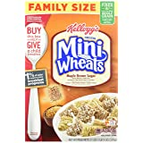 Kellogg's Frosted Mini Wheats Breakfast Cereal, Maple Brown Sugar, Family Size 21 Ounce Box (Pack of 4)