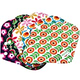 Wegreeco Bamboo Reusable Sanitary Pads - Cloth Sanitary Pads - Pack of 5 (Small,Flower) (Color: Flower, Tamaño: Small)