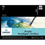 Canson Artist Series Montval Acrylic Pad, Sized Heavyweight No-Buckle Paper, Fold Over, 185 Pound, 16 x 20 Inch, 10 Sheets (Color: 0, Tamaño: 16