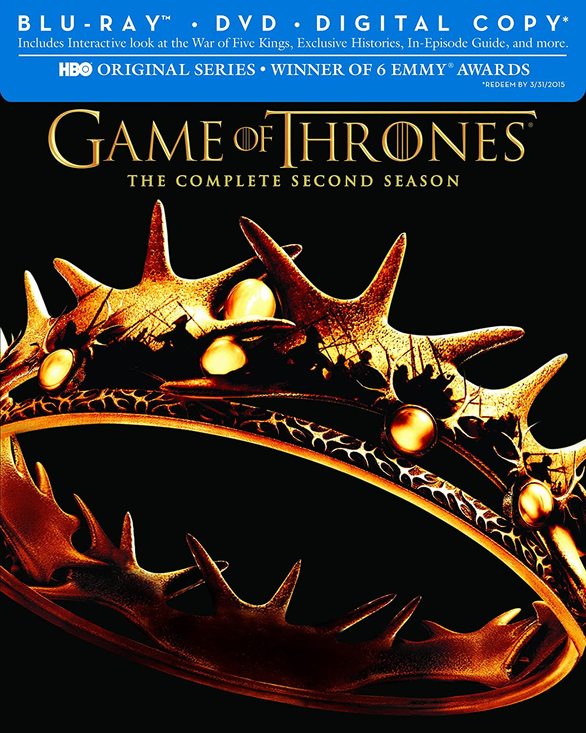 Game of Thrones: The Complete Second Season (Blu-ray/DVD Combo + Digital Copy) $29.99