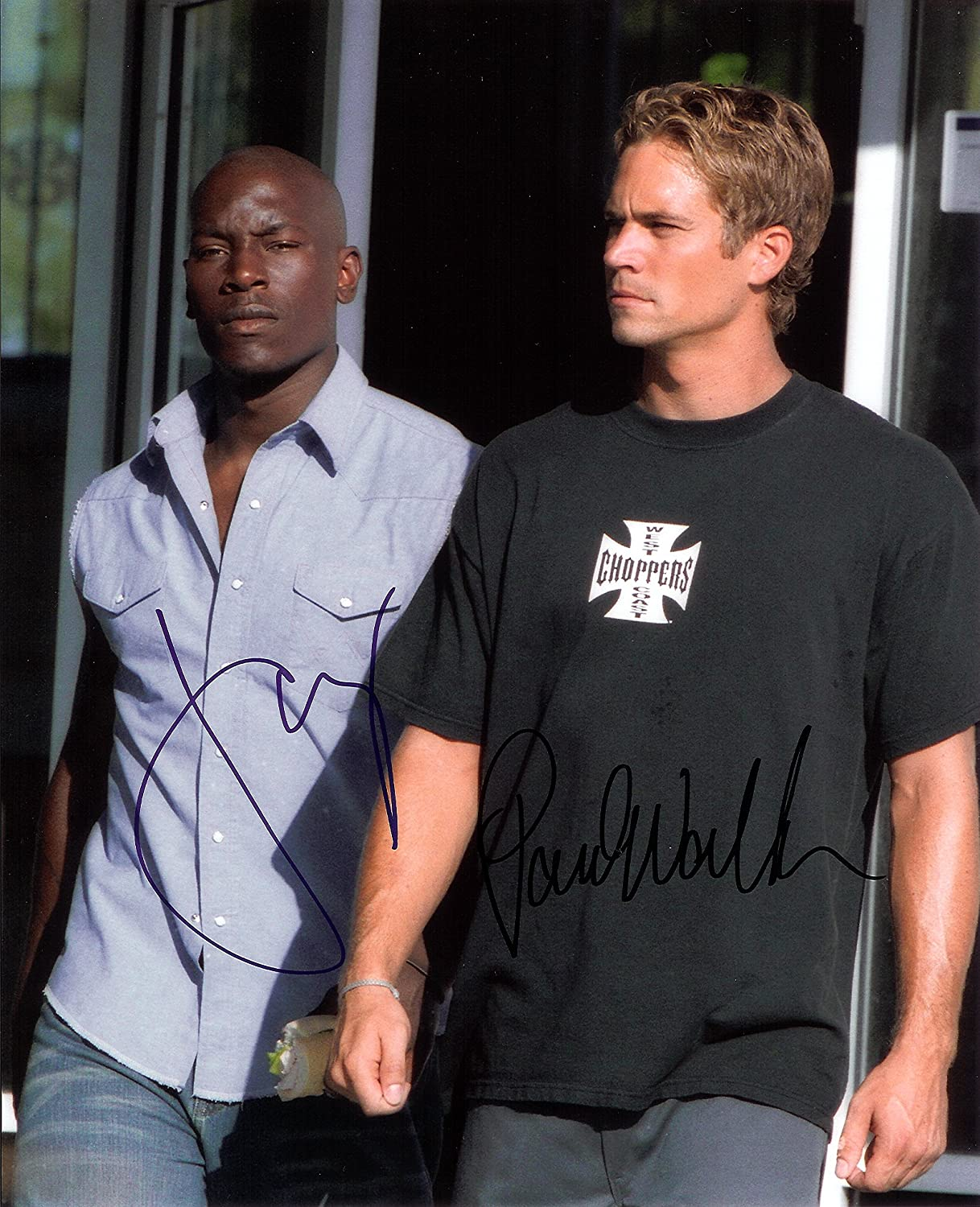 Fast & Furious with Paul Walker Signed Autographed 8 X 10 RP Photo - Mint Condition brett favre autographed hand signed green bay packers 16x20 record breaking photo with psa dna authenticity