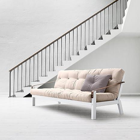 - poesía KARUP, sofá cama: futón, marco de madera natural
