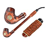New Marquess Pear Wood Hand Carved small Churchwarden Tobacco Smoking Pipe