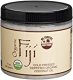 Organic Fiji Cold Pressed Certified Organic Coconut Oil, 13-Ounce Jars