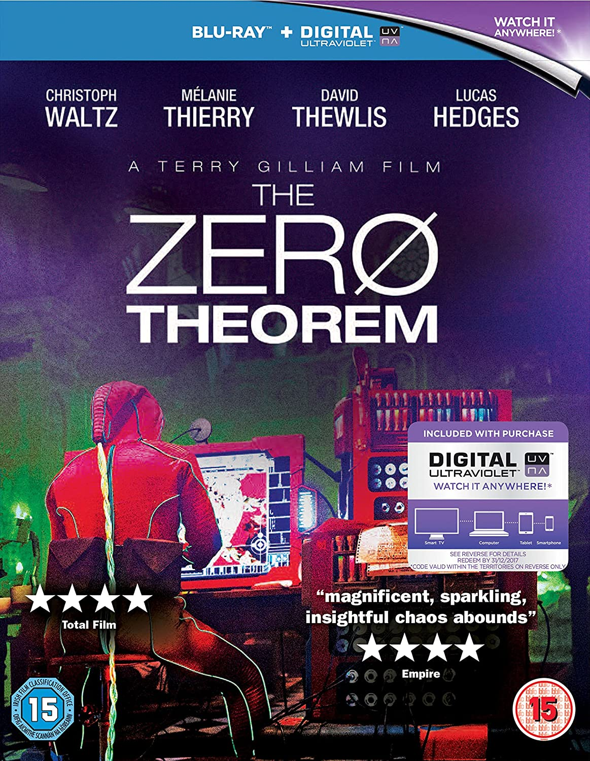 91ZHlYb5d4L. SL1500  The Zero Theorem (2014) Sci Fi (BluRay) NEW in Theaters * Christoph Waltz