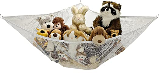 Toy hammock storage jumbo net organizer stuffed animals for Hanging toy net