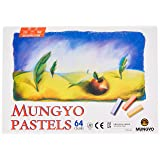 Mungyo Non Toxic Square Chalk, Soft Pastel, 64 Pack, Assorted Colors (B441R078-7003A)