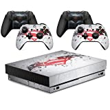 Gizmoz n Gadgetz GNG Hero's VS Skins for Xbox ONE X XBX Console Decal Vinal Sticker + 2 Controller Set (Color: Hero V Batman)