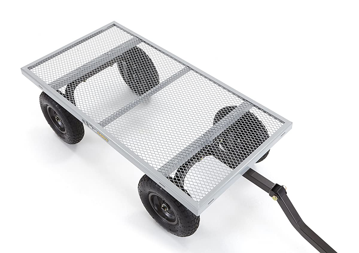Gorilla Carts Heavy-Duty Steel Utility Cart with Removable Sides with a Capacity of 1000 lb, Gray