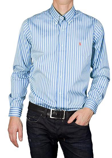 ralph lauren hemd gestreift blau