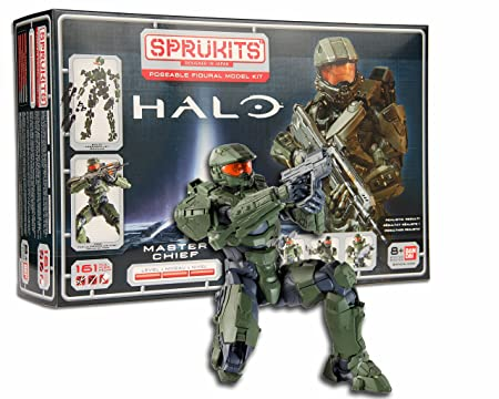 Sprukits Kit figurines Master Chief Niveau 3 Master Chief Halo Figure Modèle kit