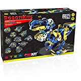 OWI Dodeca 12-In-1 Solar Hydraulic Robot Kit (Color: Blue, Yellow)