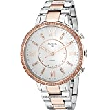 Fossil Q Women's Virginia Two-Tone Stainless Steel Hybrid Smartwatch, Color: Rose Gold-Tone, Silver-Tone (Model: FTW5011) (Color: Rose Gold, Silver, Tamaño: One Size)