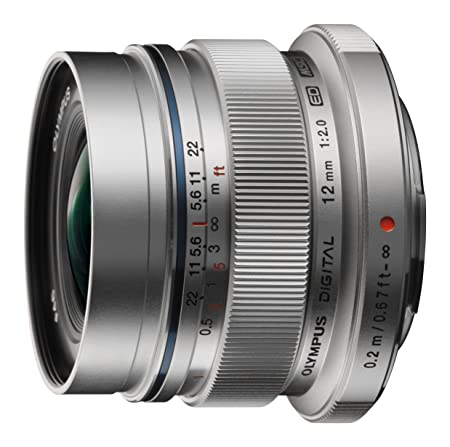 Olympus V311020SE000 Objectif M.Zuiko Digital 12 mm EW-M1220 Argent