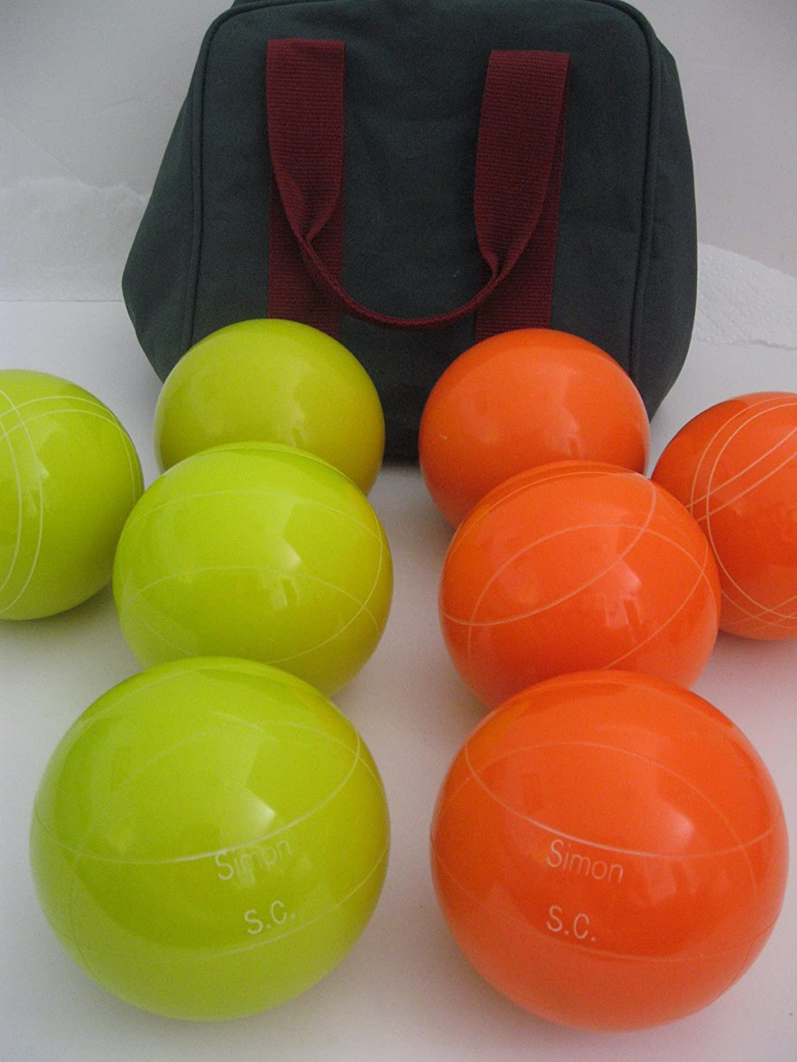 Premium Quality Engraved EPCO Bocce package – 107mm EPCO Yello and Orange bal… online bestellen