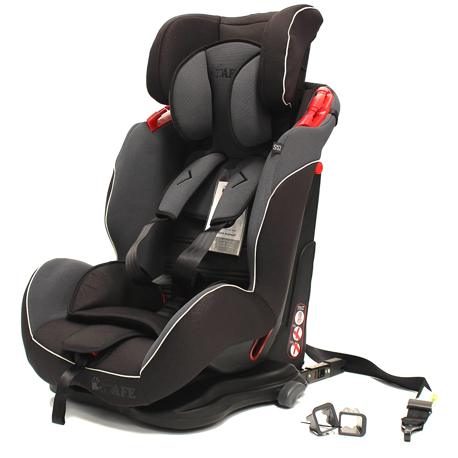 isafe isofix carseat group 1 2 3 recliner baby seat car seat 9 36kgs mocca. Black Bedroom Furniture Sets. Home Design Ideas