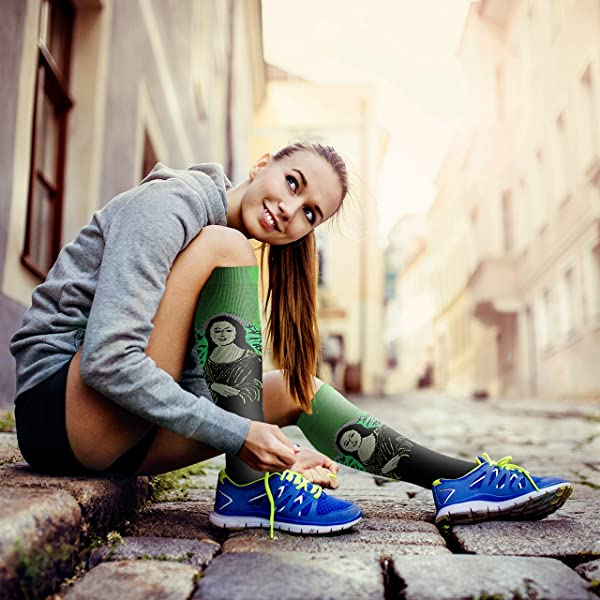 Compression Socks (3 Pairs), 15-20 mmHg is Best Athletic & Medical for Men & Women, Running, Flight, Travel, Nurses, Pregnant (04 Black/Blue/Red, Large/X-Large (US Women 8-15.5/US Men 8-14)) (Color: 04 Black/Blue/Red, Tamaño: Large/X-Large (US Women 8-15.5/US Men 8-14))