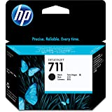 HP 711 80-ml Black Designjet Ink Cartridge (CZ133A) for HP DesignJet T120 24-in Printer HP DesignJet T520 24-in Printer HP DesignJet T520 36-in PrinterHP DesignJet printheads help you respond quickly by providing quality speed and easy hassle-free printing (Color: Black, Tamaño: Black)