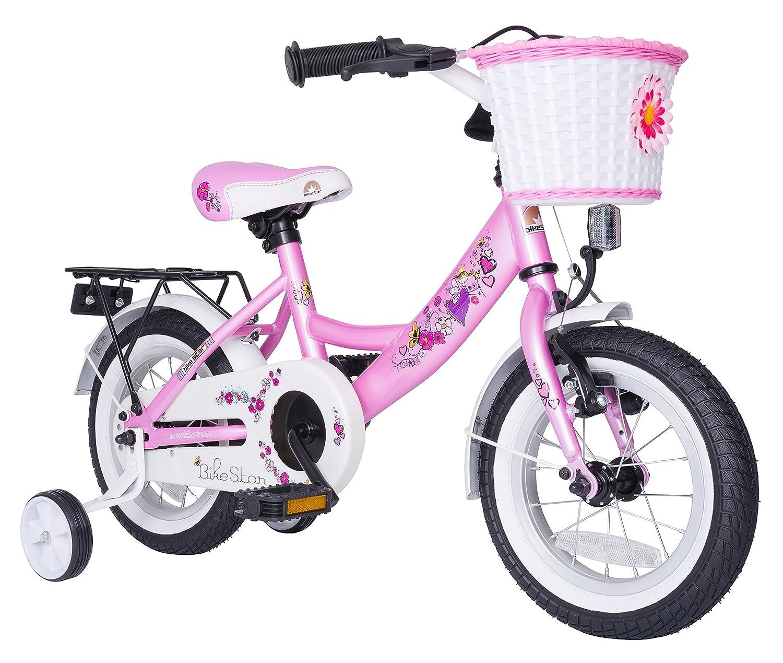 BIKESTAR® Premium Kinderfahrrad für sichere und sorgenfreie Spielfreude ab 3 Jahren ★ 12er Classic Edition ★ Märchenhaft Pink als Geschenk