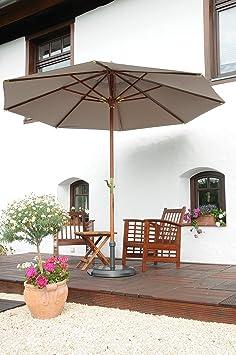 Manivela-Madera-Outdoor elegante sol-Pantalla-100% poliéster 270g/m² aprox-sin cenefa, con apertura de Wind-Modelo: Manila-Alicates montaña-