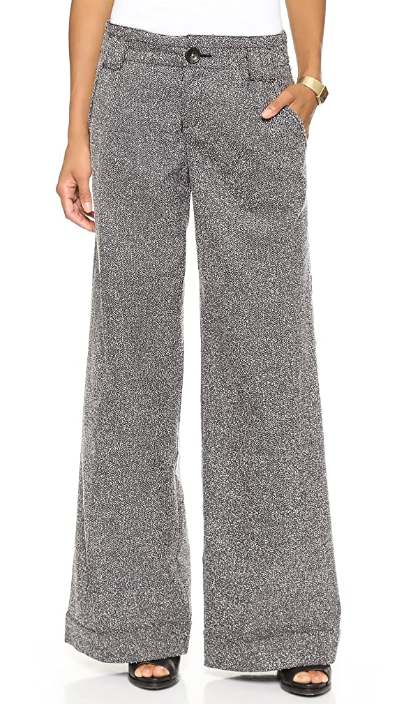 Free People Womens Herringbone Cuffed Dress Pants