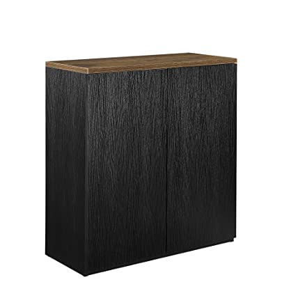 [neu.haus] Scaffale da archivio regale nero 100x90cm rovere sfumato libri mobile da ufficio sideboard