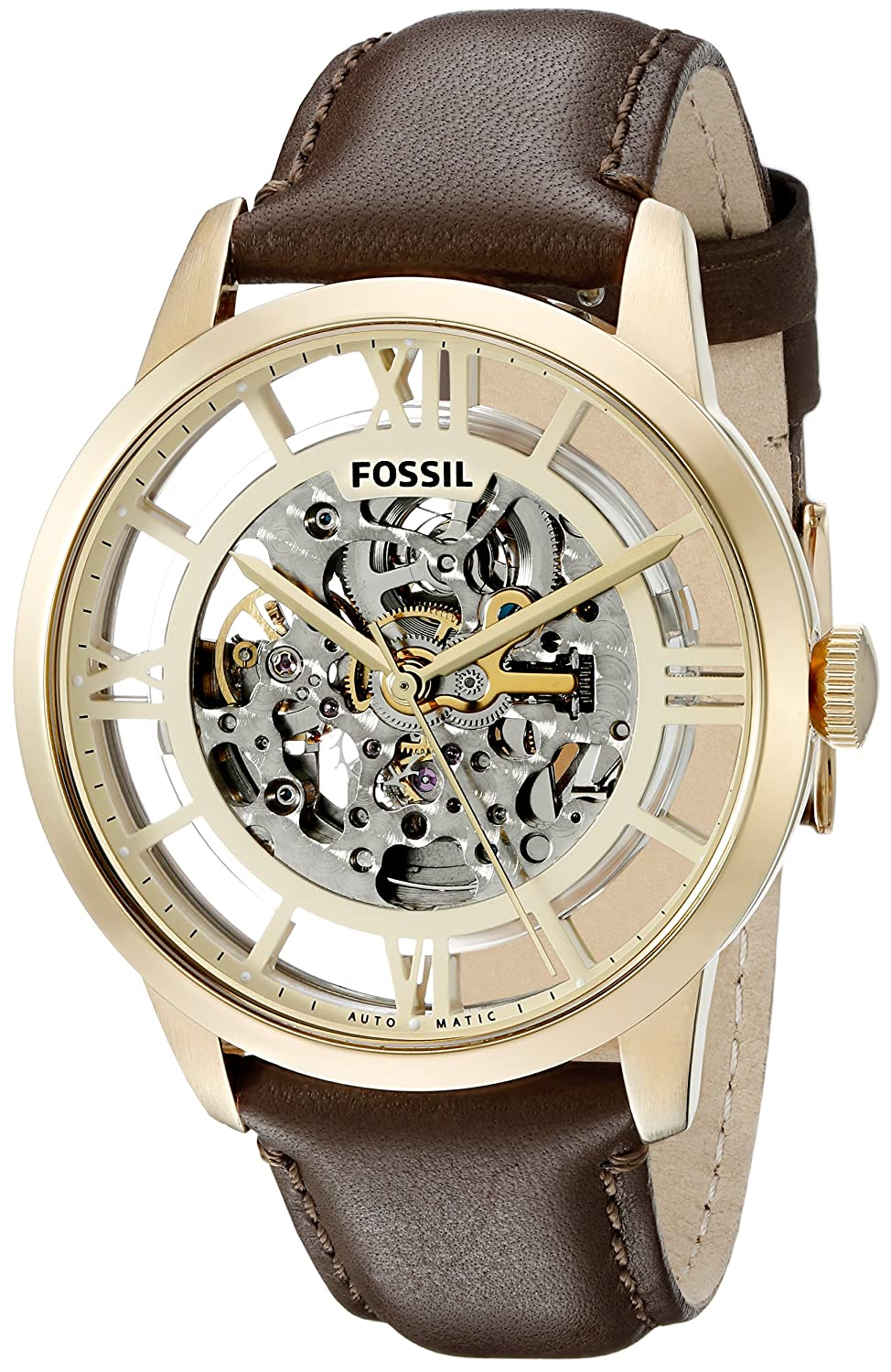 Fossil Original Me3098 Mens Townsman Automatic Dark Brown Me3043 Jam Tangan Pria Leather