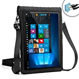 12 Inch Tablet Case by USA Gear with Touch Screen & Adjustable Shoulder Sling / Display Strap - Works with Samsung Galaxy Book 12 & More 12