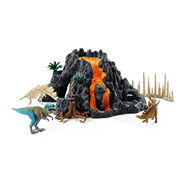 Schleich - 42305 - Volcan Géant Avec Tyrannosaure -