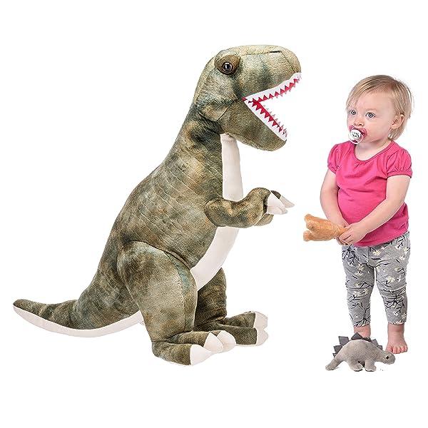 Prextex 24 Giant Plush Dinosaur T-Rex Jumbo Cuddly Soft Dinosaur Toys for Kids (Tamaño: 24 Inches)