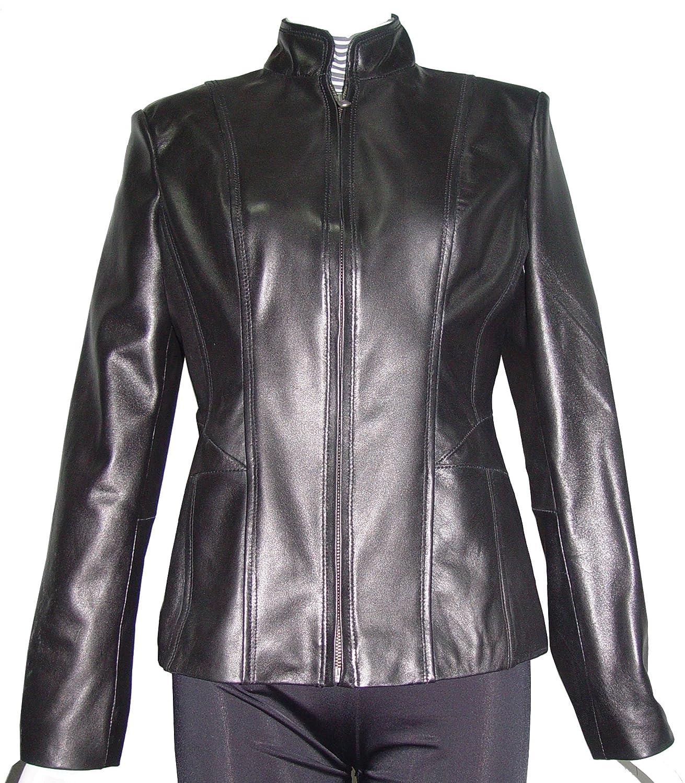 Nettailor WoHerren 4187 weich Original- Leder einfach leicht Motorradfahrer JackeChina Kragen jetzt kaufen