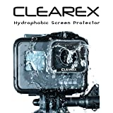 CLEAREX Hydrophobic Screen Protector for GoPro Hero 5, 6, & 7 | Water Repellent, Tempered Glass, Ultra-Clear, Anti-Scratch | Capture Clearly (Color: GoPro 5, 6, & 7-Black)