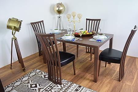 Juego de mesa de comedor y 4sillas (Madera Maciza De La Cena mesas rectangulares de madera Muebles de Cocina Moderno contemporáneo conjuntos de Diner