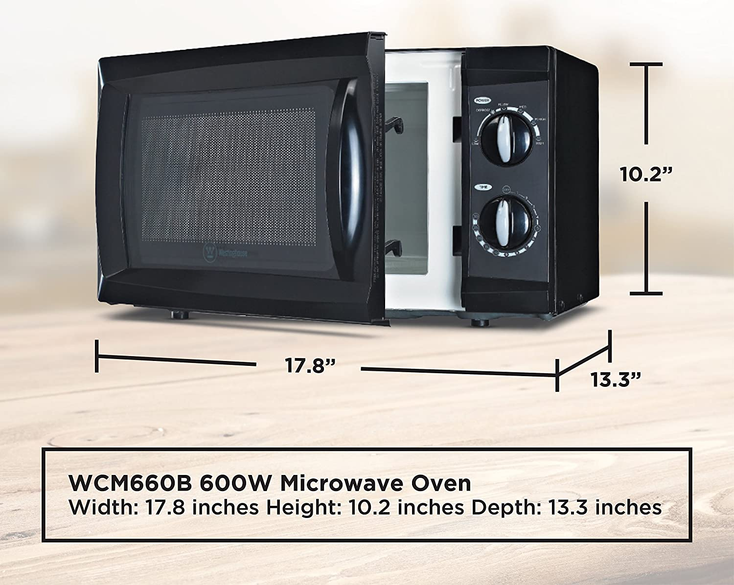 Westinghouse WCM660B Counter-top Rotary Microwave Oven