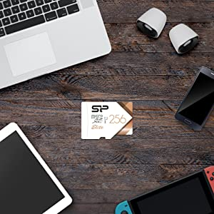 Silicon Power-256GB High Speed MicroSD Card with Adapter (Color: 256GB, Tamaño: 256GB)