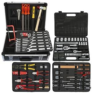 Famex 74349 Mechaniker Werkzeugkoffer mit Steckschlüsselsatz, 130 insgesamt 170teilig  BaumarktBewertungen