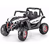 4X4 Sport Edition 2 Seater 12V Buggy / UTV Style Kids Electric Ride On Car with RC - White