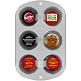 Wilton Recipe Right Nonstick 6-Cup Regular Muffin Pan